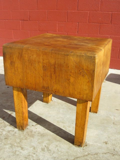 American antique butchers block chopping block cutting for Jewelry stores effingham il