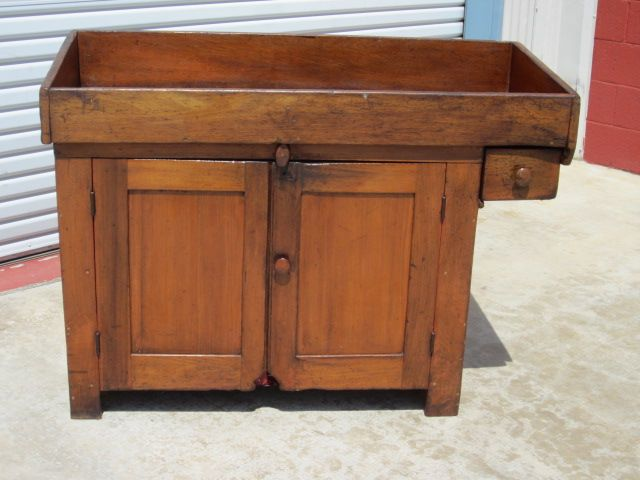 American Antique Dry Sink Cabinet Kitchen Cupboard Antique Furniture