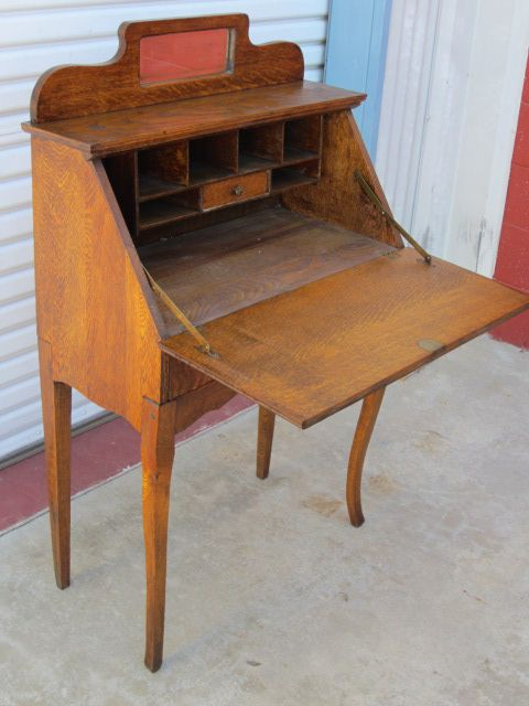 American Antique Breakfront Secretary Desk Antique