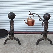 Antique Andirons Antique Fireplace Accessories Arts and Crafts Mission
