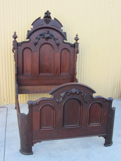 American antique bed victorian antique bedroom furniture for Antique bedroom furniture