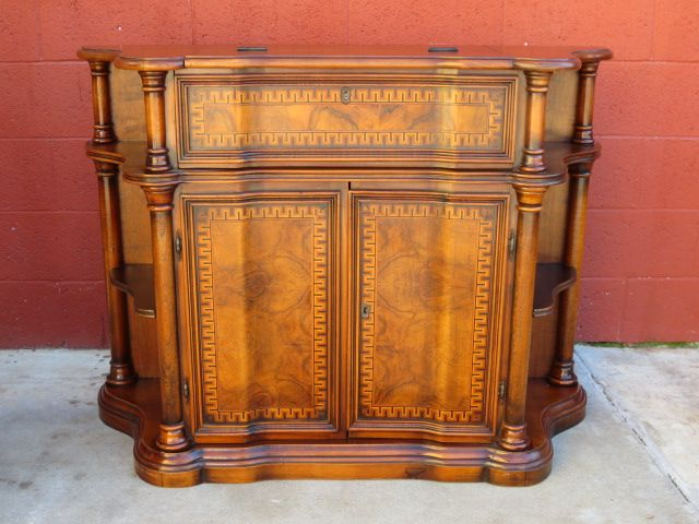 Vintage Console Secretary Desk Bar Cabinet Sofa Table - Vintage Console Secretary Desk Bar Cabinet Sofa Table SOLD On Ruby