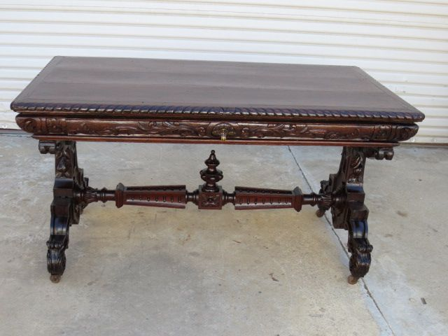 spanish antique desk library table antique office furniture antique office table