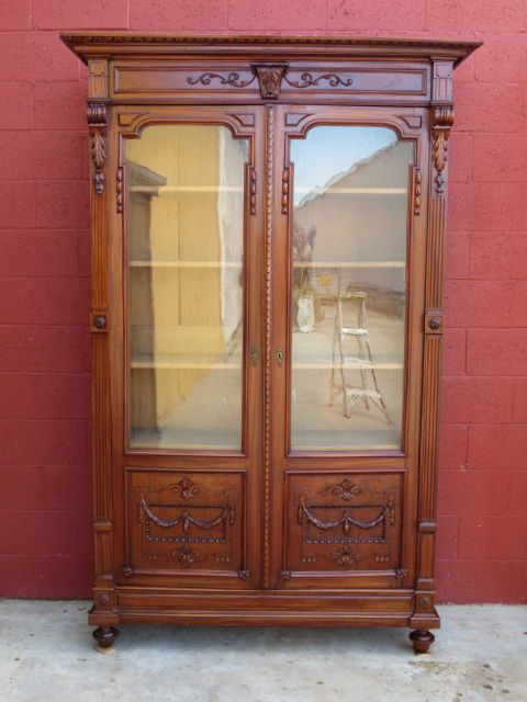 French Antique Bookcase Display Cabinet Antique Office Furniture