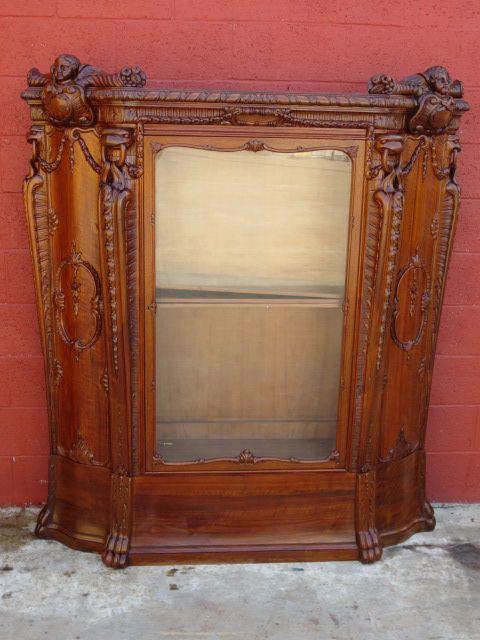 Italian Antique Bookcase Display Cabinet Antique Furniture