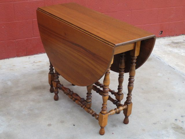 American Drop Leaf Table Walnut Table Vintage Furniture