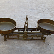 American Antique Brass Balance Scale