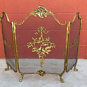 French Bronze Fireplace Screen