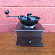 French Antique Coffee Grinder Antique Kitchen Collectible