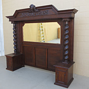 Antique Paneling Antique Wall Nook Antique Architectural Wall Unit