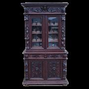 French Antique Hutch Bookcase Antique Bar Cabinet Furniture