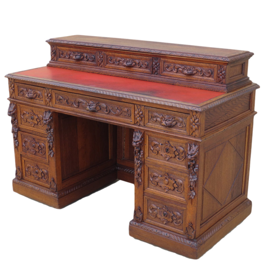 French antique desk carved furniture sold on ruby lane