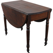 Antique Table American Antique Drop Leaf Walnut Table Antique Furniture