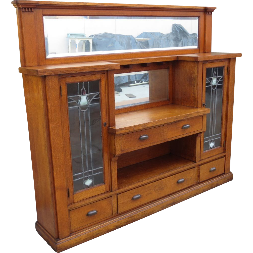 Antique arts and crafts furniture - Antique Arts And Crafts Built In Antique Sideboard Antique Server Mission Furniture