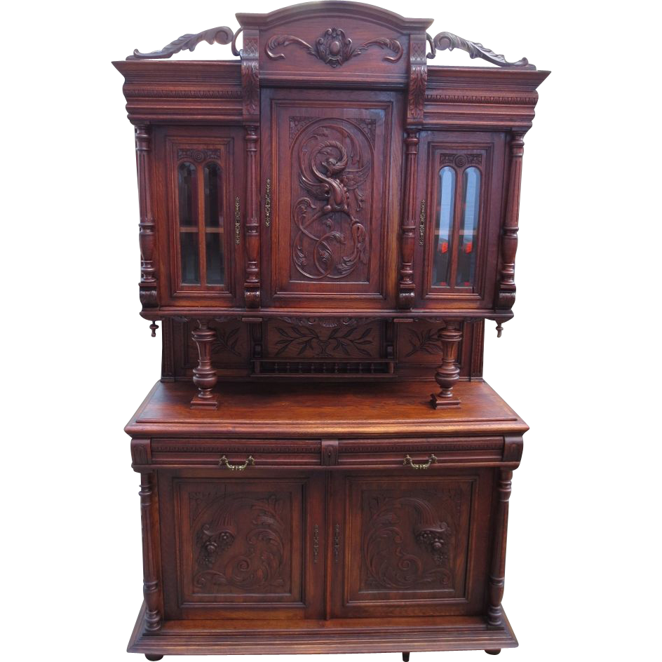French antique hutch antique sideboard antique furniture for Old furniture