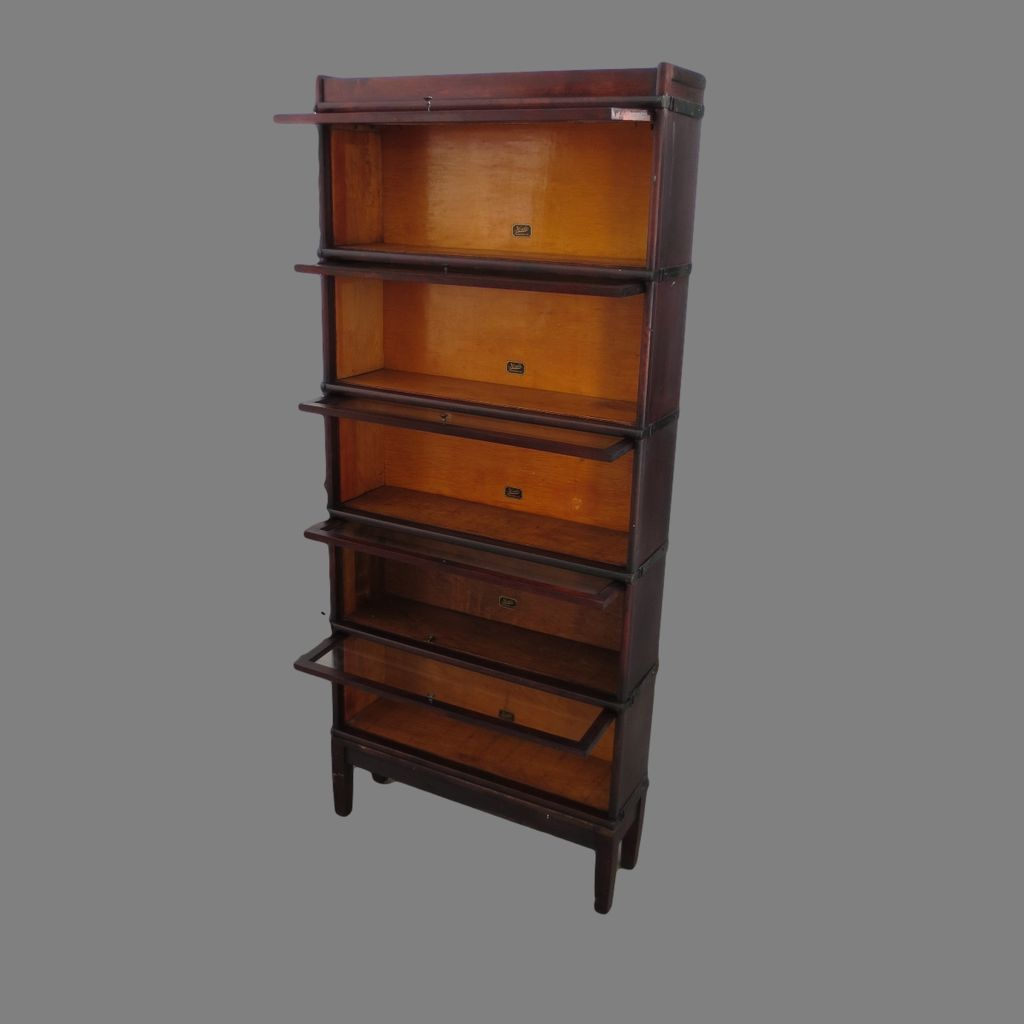 Roll over Large image to magnify, click Large image to zoom - Antique Lawyers Bookcase Antique Stacking Bookcase Antique