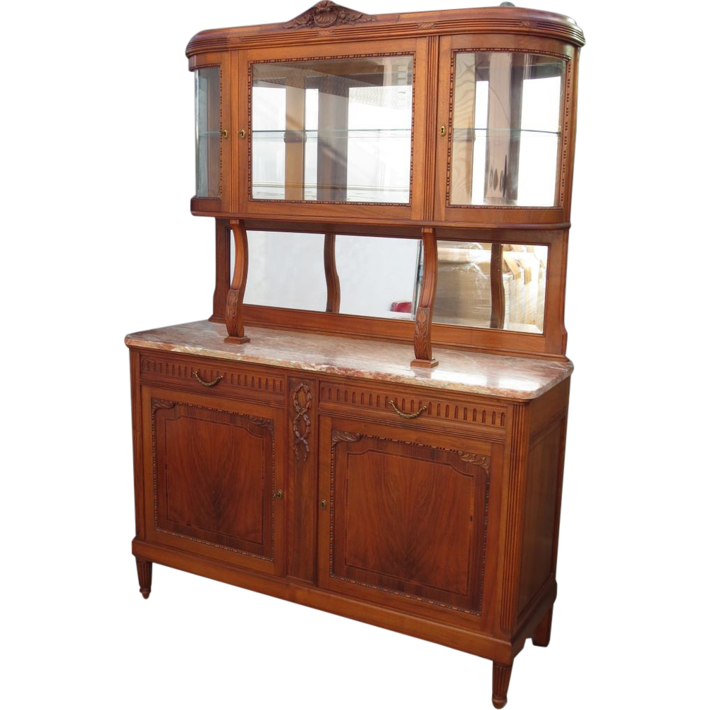 french antique buffet french antique hutch antique sideboard display sold ruby lane. Black Bedroom Furniture Sets. Home Design Ideas