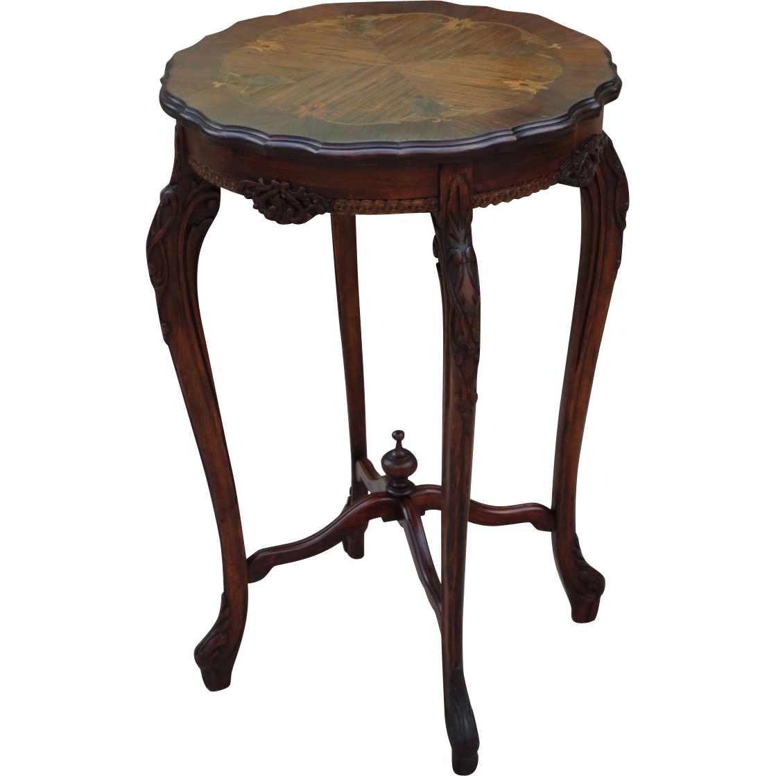 french provincial side table antique lamp table antique. Black Bedroom Furniture Sets. Home Design Ideas