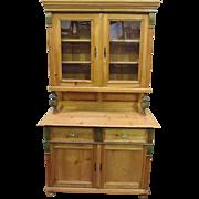 Pine Hutch American Made Country Hutch Cupboard American Made Furniture