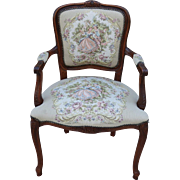 Vintage French Armchair Carved French Louis XV Armchair Vintage Furniture