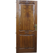 Original French Antique Door Antique Walnut Door French Architectural Elements