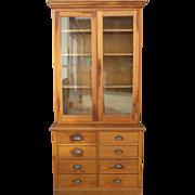 Antique Pine Kitchen Cabinet Antique Hutch Antique Furniture Display Cabinet Bookcase