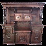 German Antique Cabinet Antique Back Bar Antique Hutch Antique Server Antique Furniture