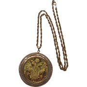 Austria 1915 Solid Gold Franc Coin Solid Gold Pendant Solid Gold Chain