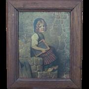 Original Hermann Von Kaulbach Oil Painting Margueritina Gretel Ritina 1846-1909