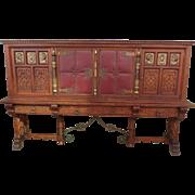 Spanish Antique Cabinet Antique Sideboard Antique Server Antique Furniture
