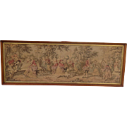 French Antique Tapestry Antique Framed Tapestry