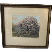 Antique Framed Print Artist Signed