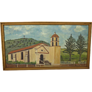 California Art Oil Painting by Yeager California Mission