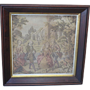 French Antique Tapestry Framed French Antique Tapestry