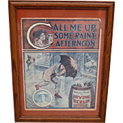 Framed Antique Sheet Music Call Me Up Some Rainy Afternoon By Irving Berlin
