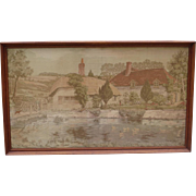 Antique French Tapestry French Framed Antique Tapestry