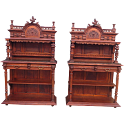 Pair of French Antique Servers Antique Sideboards Antique Buffets Antique Furniture