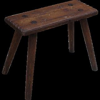 French Antique Stool Antique Milking Stool Antique Bench Antique Furniture