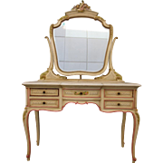 French Antique Hand Carved Dresser Antique Vanity Painted French Antique Furniture