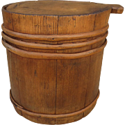 French Antique Grain Bucket French Antique Storage Container Antique Primitives