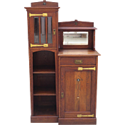 Arts and Crafts Bookcase Mission Furniture Cabinet Arts and Crafts Antique Furniture