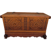 Spanish Antique Chest Antique Trunk Antique Furniture