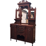English Antique Hutch Antique Sideboard Antique Cabinet Antique Furniture