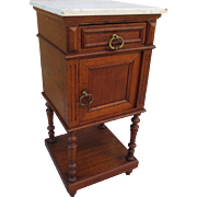 French Antique Marble Top Night Stand Antique Bed Side Table Antique Side Table Antique Furniture