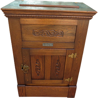American Antique Ice Box Antique Refrigerator American Antique Furniture