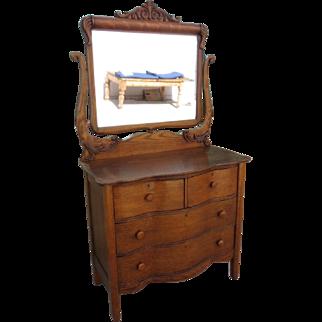 American Antique Dresser Antique Chest Antique Serpentine Dresser Antique Furniture