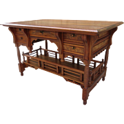 American Antique Desk Antique Work Table Antique Writing Desk American Victorian EastLake Antique Furniture