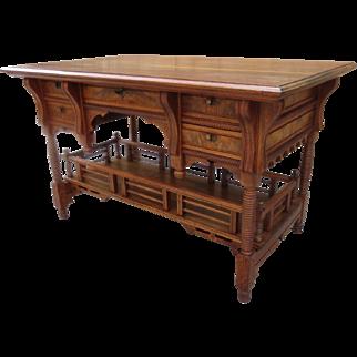 American Antique Desk Antique Work Table Antique Writing Desk American Victorian EastLake Antique Furniture