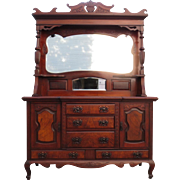 Antique Hutch Antique Sideboard Antique Server Victorian Antique Furniture