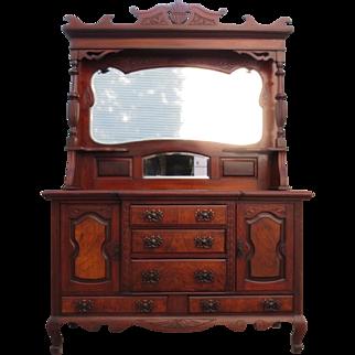 Antique Hutch Antique Sideboard Antique Server Victorian Antique Furniture